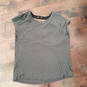 BCBG shirt - open back